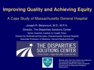 Improving Quality and Achieving Equity