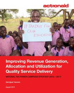 Improving Revenue Generation, Allocation and Utilization for Quality Service Delivery