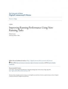 Improving Running Performance Using Non- Running Tasks
