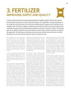 IMPROVING SUPPLY AND QUALITY