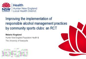 Improving the implementation of responsible alcohol management practices by community sports clubs: an RCT