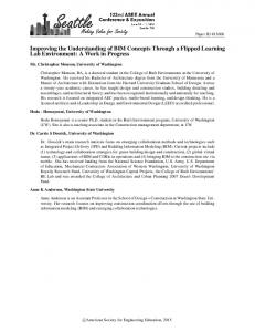 Improving the Understanding of BIM Concepts Through a Flipped Learning Lab Environment: A Work in Progress