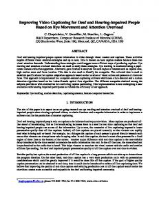 Improving Video Captioning for Deaf and Hearing-impaired People Based on Eye Movement and Attention Overload