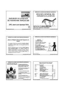 IMPUESTO A LA RENTA DE PERSONAS JURIDICAS