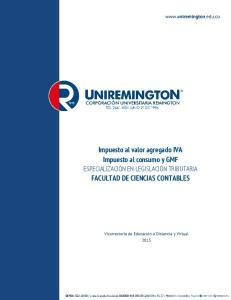 Impuesto al valor agregado IVA Impuesto al consumo y GMF