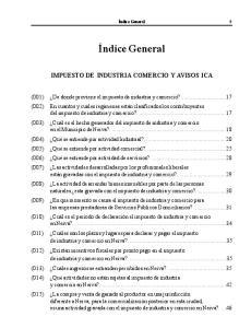 IMPUESTO DE INDUSTRIA COMERCIO Y AVISOS ICA