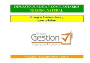 IMPUESTO DE RENTA Y COMPLEMTARIOS PERSONA NATURAL