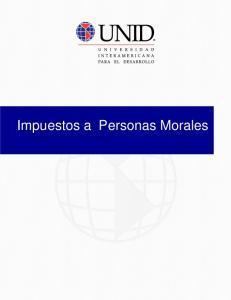 Impuestos a Personas Morales