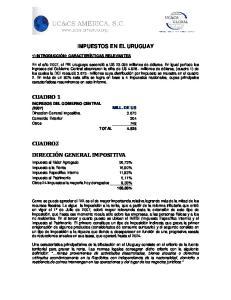 IMPUESTOS EN EL URUGUAY