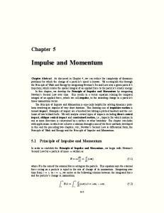 Impulse and Momentum