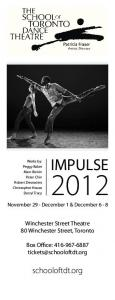 IMPULSE. schooloftdt.org. Winchester Street Theatre 80 Winchester Street, Toronto. Box Office: