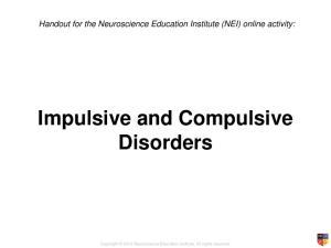 Impulsive and Compulsive Disorders