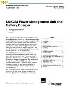 i.mx233 Power Management Unit and Battery Charger