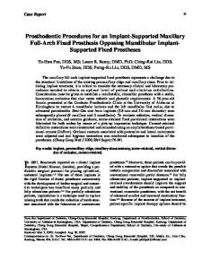 In 1997, Branemark reported on a dental implant