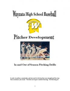 In and Out of Season Pitching Drills