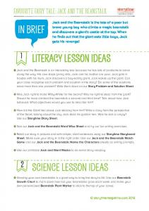 IN BRIEF LITERACY LESSON IDEAS SCIENCE LESSON IDEAS. Favourite Fairy Tale: Jack and the Beanstalk