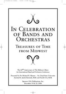 In Celebration of Bands and Orchestras