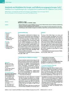 In diesem Abschnitt steht die Umsetzung von Palliativversorgung