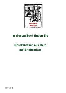 In diesem Buch finden Sie. Druckpressen aus Holz auf Briefmarken