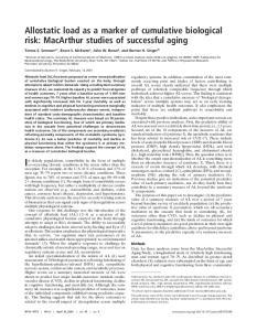 In elderly populations, comorbidity in the form of multiple