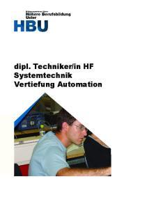 in HF Systemtechnik Vertiefung Automation