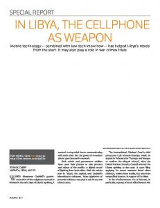 IN LIBYA, THE CELLPHONE AS WEAPON