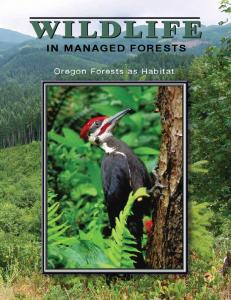 IN MANAGED FORESTS. Oregon Forests as Habitat