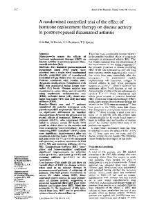 in postmenopausal rheumatoid arthritis