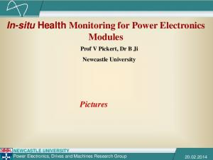 In-situ Health Monitoring for Power Electronics Modules