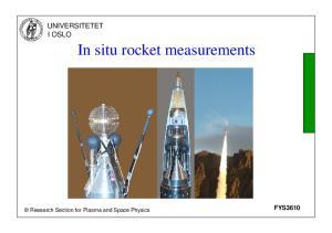 In situ rocket measurements
