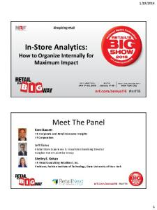 In-Store Analytics: How to Organize Internally for Maximum Impact