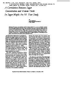In Sugar Maple An 18- Year Study