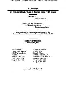 In the United States Court of Appeals for the Fifth Circuit