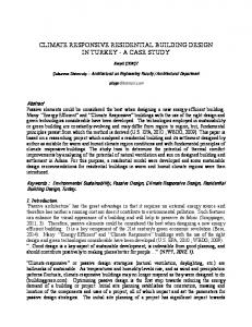 IN TURKEY - A CASE STUDY