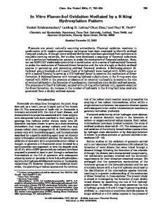 In Vitro Flavon-3-ol Oxidation Mediated by a B Ring Hydroxylation Pattern