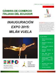 INAUGURACIÓN EXPO 2015: MILÁN VUELA