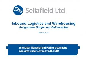 Inbound Logistics and Warehousing Programme Scope and Deliverables