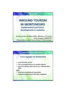 INBOUND TOURISM IN MONTENEGRO
