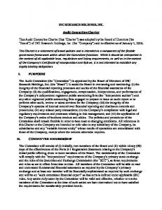 INC RESEARCH HOLDINGS, INC. Audit Committee Charter