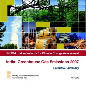 INCCA Indian Network for Climate Change Assessment India: Greenhouse Gas Emissions 2007