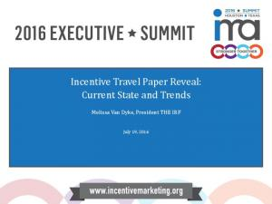 Incentive Travel Paper Reveal: Current State and Trends