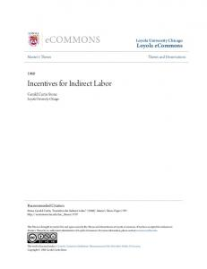 Incentives for Indirect Labor