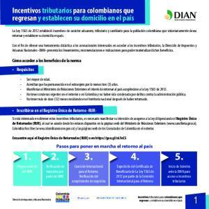 Incentivos tributarios para colombianos que