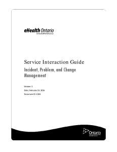 Incident, Problem, and Change Management