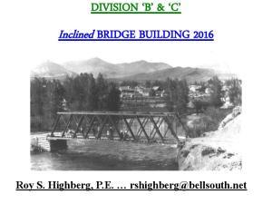 Inclined BRIDGE BUILDING 2016