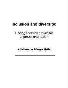 Inclusion and diversity: