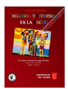 INCLUSION Y DIVERSIDAD EN LA ESCUELA