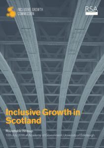 Inclusive Growth in Scotland