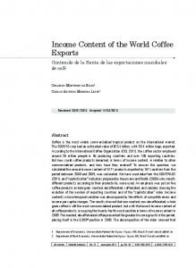 Income Content of the World Coffee Exports