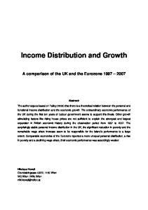 Income Distribution and Growth